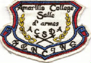 """Amarillo College Salle de Armes"" patch"