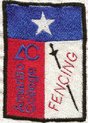 Amarillo College Fencing Patch