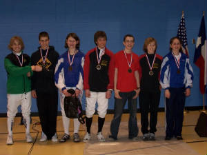 Junior Mixed Epee Medal Winners