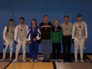 Senior Mixed Epee Medal Winners