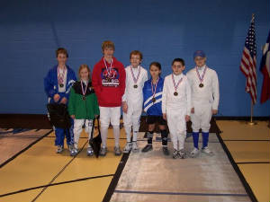Youth 10-12 Mixed Foil Medal Winners