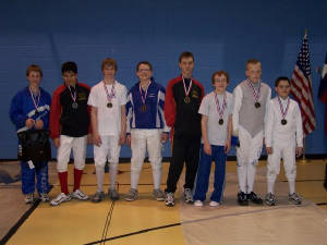 Youth 14 Mixed Foil Medal Winners